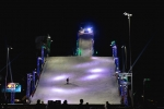 The ramp at night at the Air + Style Festival at Exposition Park. Photo by Rayana Chumthong