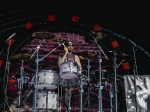 Travis Barker at the Air + Style Festival at Exposition Park. Photo by Rayana Chumthong