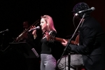 """Samantha Sidley at the """"Unsung Heroes"""" salute to Eleni Mandell at the Bootleg Theater, Jan. 25, 2017. Photo by Steve Hochman"""