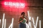 Morgan Parker at GIRLSCHOOL at the Bootleg Theater, Feb. 4, 2018. Photo by Samantha Saturday