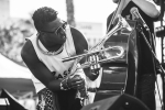 Christian Scott at Music Tastes Good in downtown Long Beach. Photo by Samantha Saturday