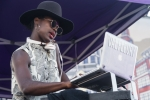 Val Fleury at Music Tastes Good in downtown Long Beach. Photo by Samantha Saturday